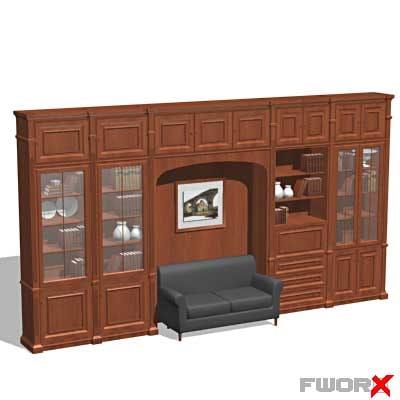 3d model bookcase cabinet furniture