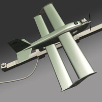 army unmanned aerial 3d model