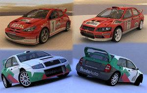 wrc cars 3d model
