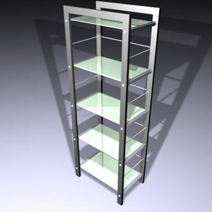 glass unit shelf 3d model