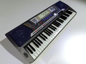 psr540 keyboard 3d lwo