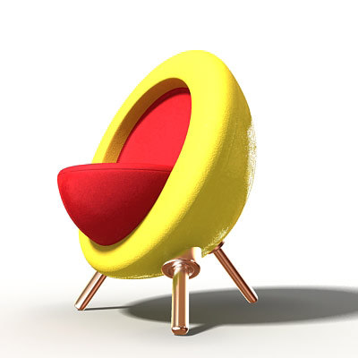 3ds max designed armchair