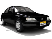 peugeot 405 3d model