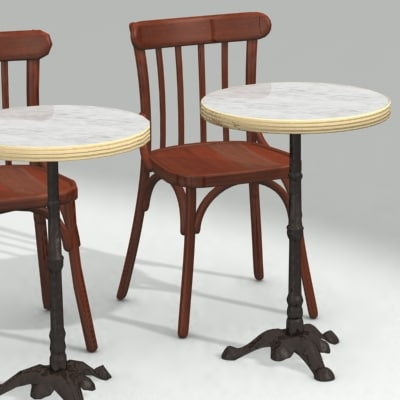 chair table furnitures 3d model