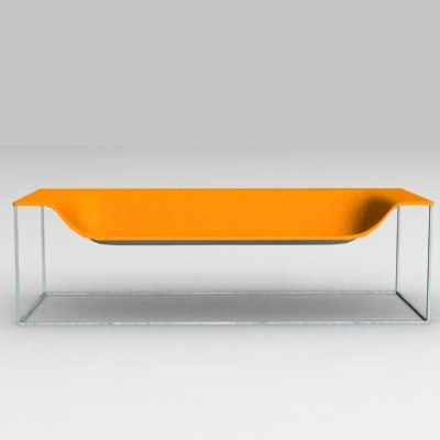 outline sofa cappellini furnitures 3d model