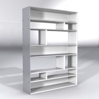 lightpiece librerie flexform furnitures 3d model