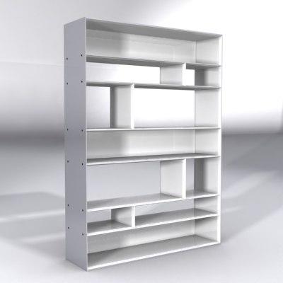lightpiece librerie flexform furnitures 3d model