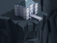 Mansion on cliff