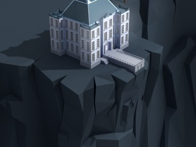 3ds max mansion cliff
