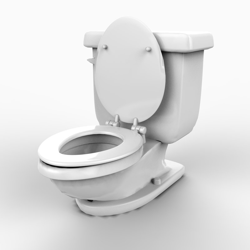toilet architecture bathroom 3d model
