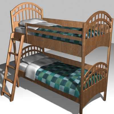3ds max bunkbed pillows comforter