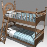 3d bunkbed pillows comforters model