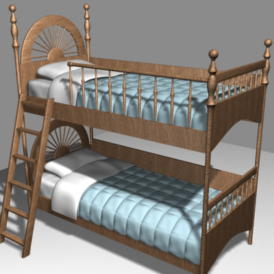 3d bunkbed pillows comforters model