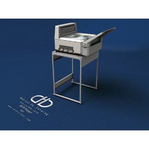 3d model konica printer