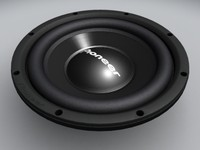 3ds max pioneer ts-w305c subwoofer speaker