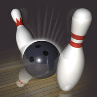 bowling ball pin 3d model