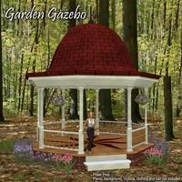 3d model gazebo poser gardening