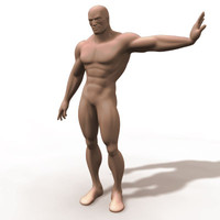 polygonal rigged character 3d model