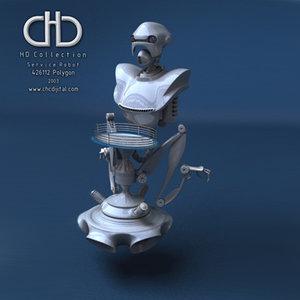 hd robot 3d model