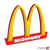 sign mcdonald 3d model