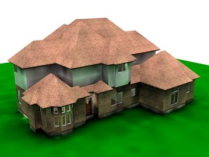 project house architecture radiosity 3d model