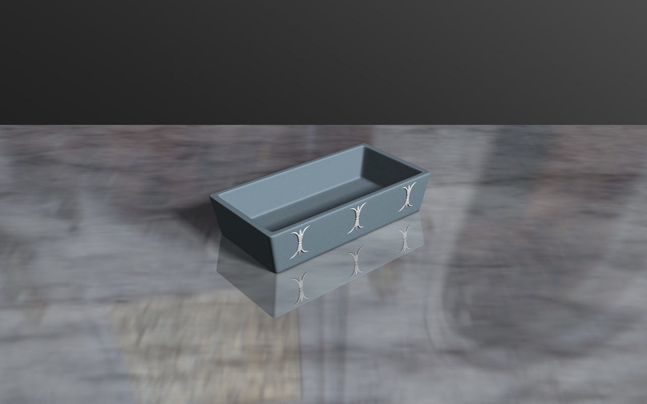 3ds max wedgewood tray
