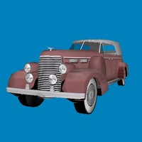1938 cadillac fleetwood car 3d model
