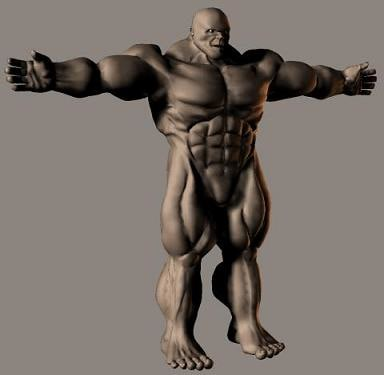 hulking tough angry 3d model