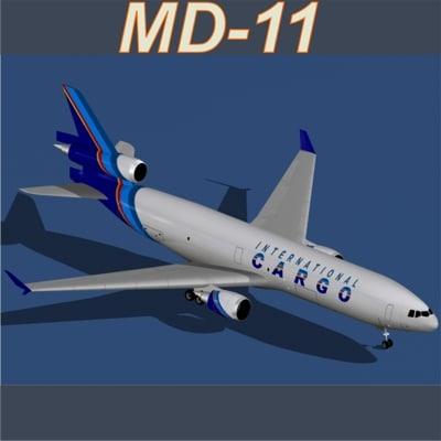 md-11 international cargo 3d lwo