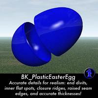 3d plastic easter egg
