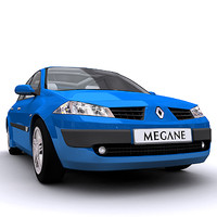 meshsmooth megane car 3d model