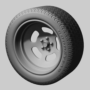 3ds max sloted wheel tire