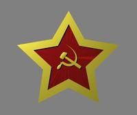 3d soviet star model