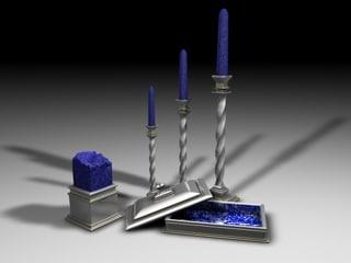 classical candlesticks jewelry box 3d model