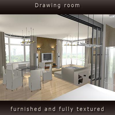 interior furniture 3d model