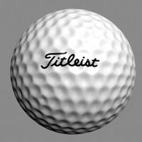 3d model titleist golf ball