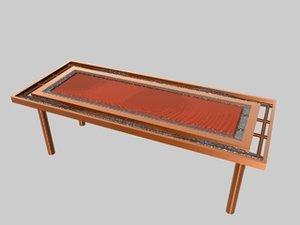 3d model table oceania set