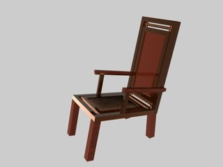 chair oceania set c4d