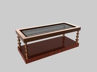 coffee table oceania set 3d c4d