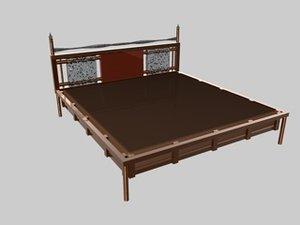 bed oceania set 3d c4d