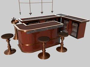 3d model bar set oceania