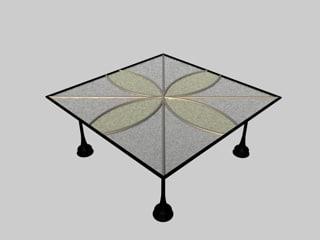 3d model of table lace soul set