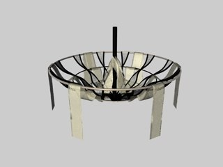 light chandelier lace soul 3d model