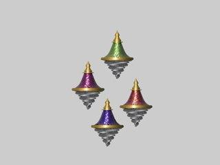 ornaments colors 3d c4d