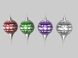 christmas ornaments colors sparkle 3d c4d
