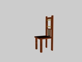 3d model chair heavenly gates set