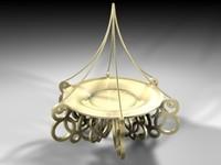 c4d torch chandelier