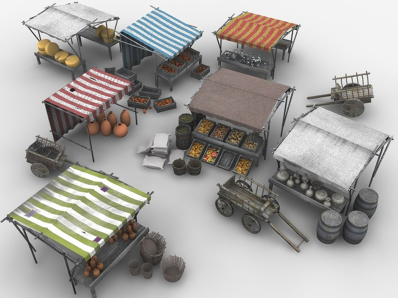 medieval marketplace 3ds