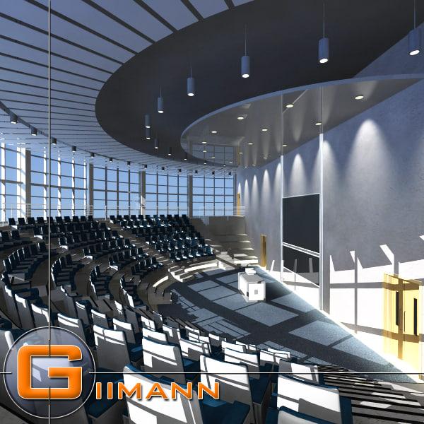 auditorium interior building 3d model