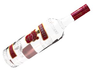 smirnoff red vodka bottle 3d model